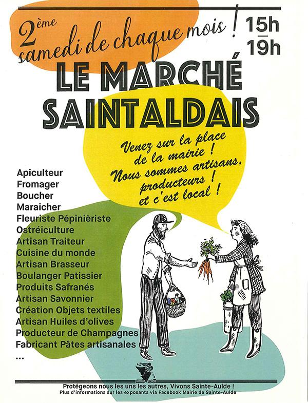Affiche marché Saintaldais